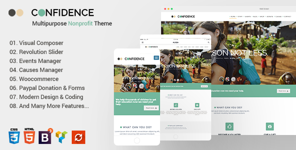 Multipurpose Nonprofit Theme Free Download Confidence v3.2.5 – Multipurpose Nonprofit Theme Download
