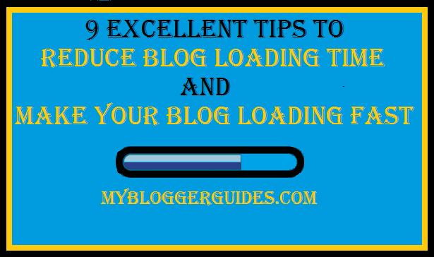 Reduce Load Time, Make Blog Load Fast