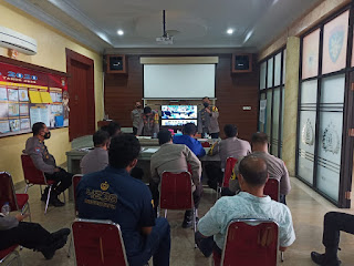 Kapolres Pangkep, Ikuti Vicon Polda Sulsel Dalam Rangka Ops Aman Nusa II
