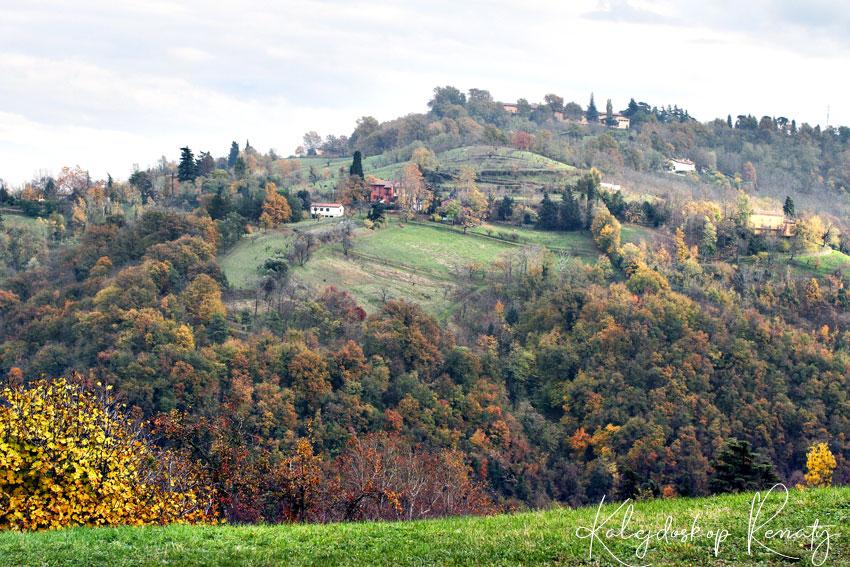 Widoki z parku San Pellegrino w Bolonii