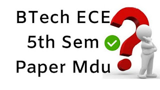 Mdu BTech ECE 5th Sem Question Papers 2018