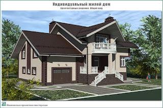 Индивидуальный жилой дом в д. Никольское Ивановского района Ивановской области. Архитектурные решения. Вид с улицы