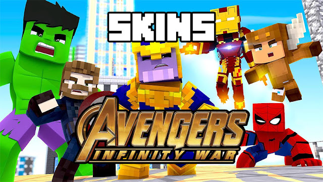 Skins Vingadores Guerra Infinita - Skins para minecraft pe guerra