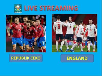 Link Live Streaming Euro 2020 CZECH REPUBLIC VS ENGLAND  Berlangsung Di Stadion Wembley
