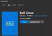 Installa Kali Windows, la distro Linux per hacker come app in Windows 10