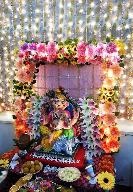 70 Best Ganpati Decoration Ideas At Home Easy