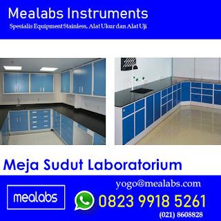 Meja Corner Laboratorium