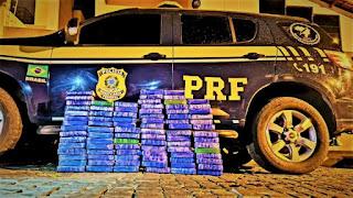 Brumado: PRF apreende 90 Kg de cloridrato de cocaína e causa um prejuízo de 10 milhões de reais ao crime organizado