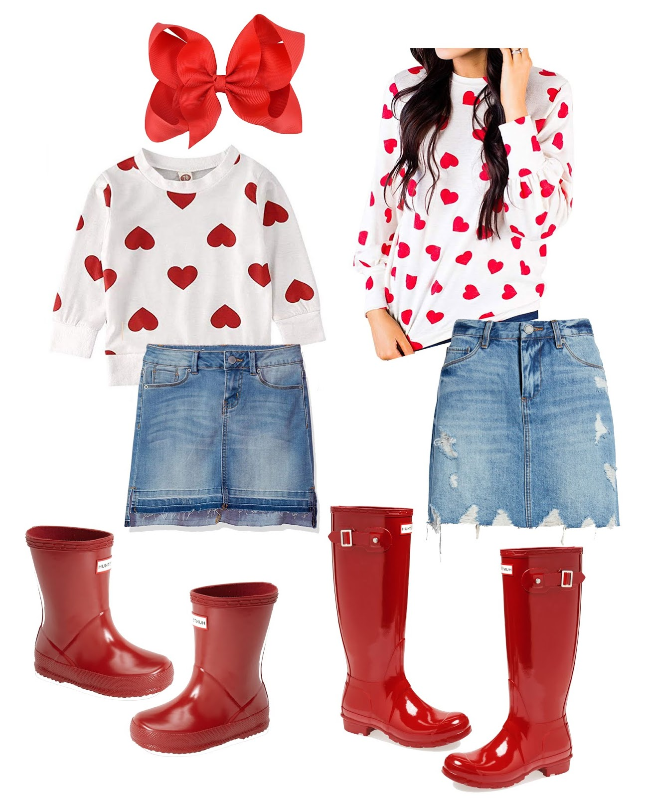 Five Head to Toe Outfits for Valentine's Day - Something Delightful Blog #ValentinesDay #Hearts #VDay #ValentinesOutfit #Womensfashion #KidsFashion