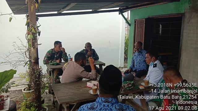 Dalam Rangka Tingkatkan Sinergitas 3 Pilar, Personel Jajaran Kodim 0208/Asahan Laksanakan Komsos