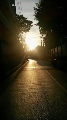 バンコクの朝日
