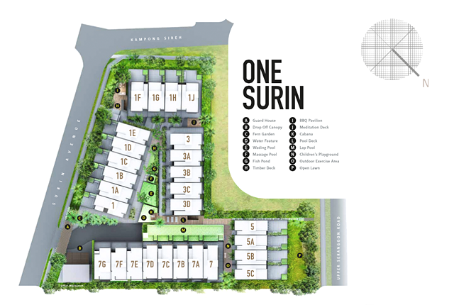 one surin site plan