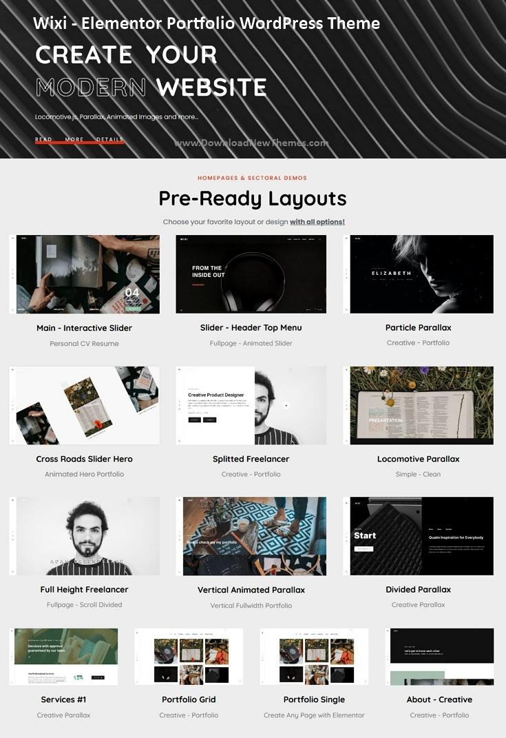 Elementor Portfolio WordPress Theme