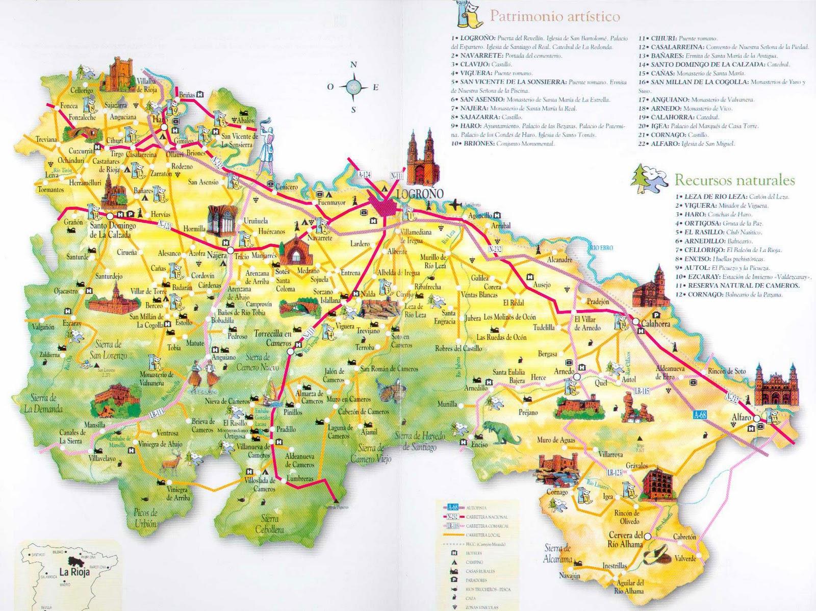 Map Of Spain La Rioja.Map Of Spain Tourism Region And Topography La Rioja Tourism