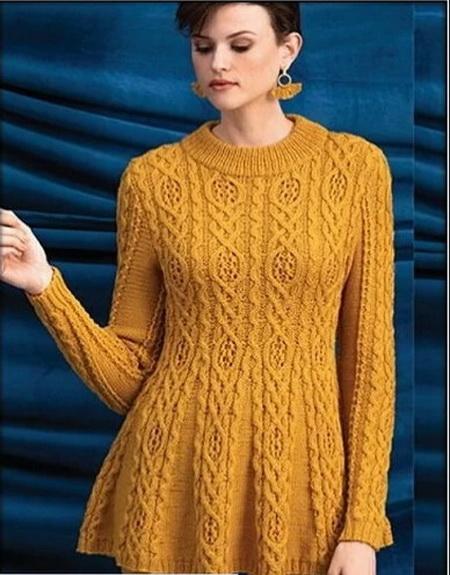 63edda395baf Мастера и умники: Красивые узоры для пуловеров и жилетов спицами