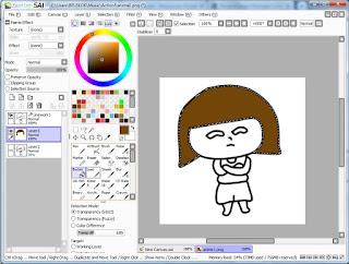Cara menggambar dan mewarnai dengan Paint Tool SAI
