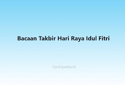 Takbir Hari Raya Idul Fitri