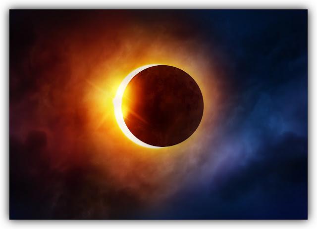 Solar Eclipse behind Haze