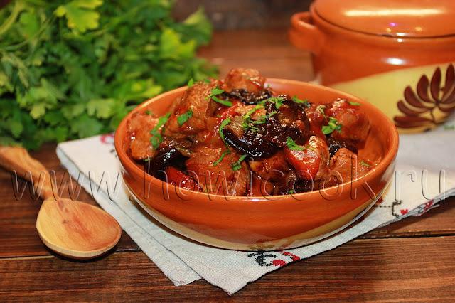 рецепт свинины с черносливом
