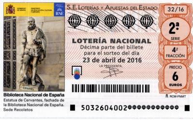loteria nacional 23-04-2016