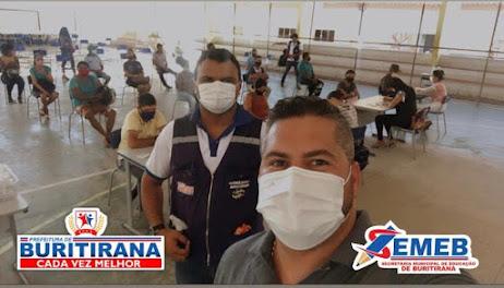 Buritirana: Profissionais da Educação a partir de 30 anos começam a ser vacinados!!!