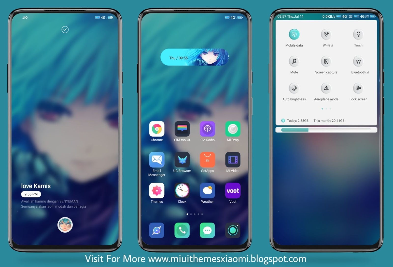 Blue Mask MIUI Theme Download For Xiaomi Mobile || MIUI Themes