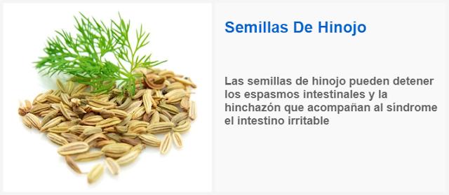 Las semillas de hinojo pueden detener los espasmos intestinales y la hinchazon que acompañan al sindrome el intestino irritable