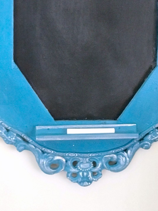 Antique Frame Chalkboard with a Pop of Color