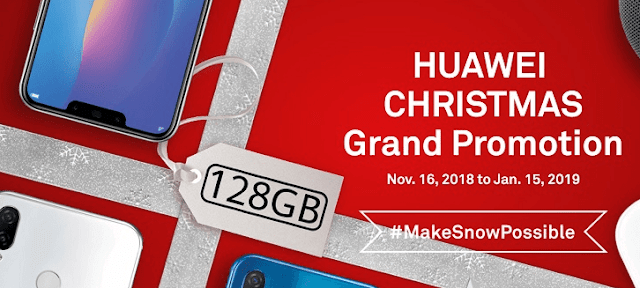 Huawei Christmas Grand Promotion: Get freebies with select Huawei devices