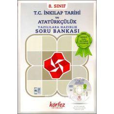 Körfez 8.Sınıf T.C. İnkılap Tarihi ve Atatürkçülük Yazılılara Hazırlık Soru Bankası Çözüm DVDli