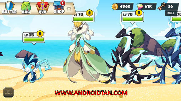 Free Download Mino Monsters 2 Evolution Mod Apk v4.0.104 (Mega Mod) Android Terbaru 2017