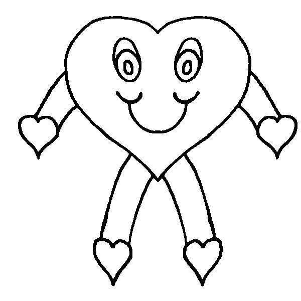 Coloring heart learn to coloring for Coloring page of hearts