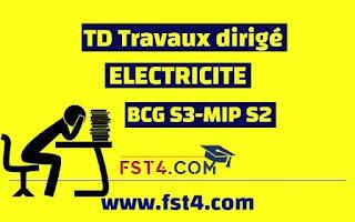 TD ELECTRICITE CORRIGE BCG MIP PDF