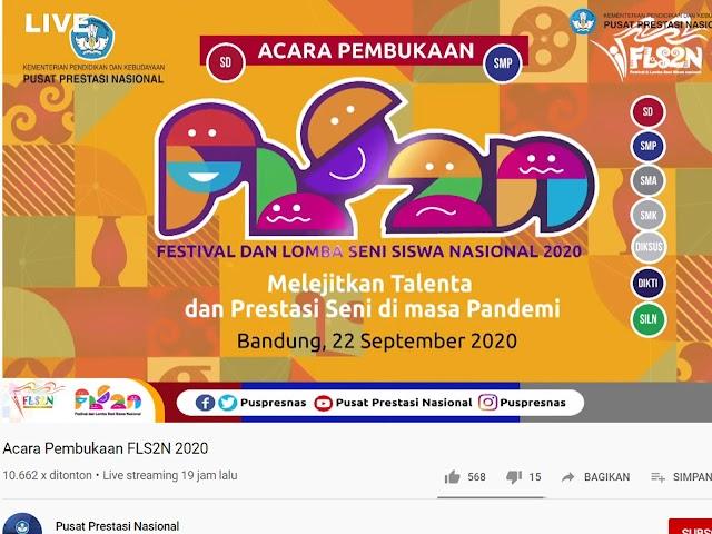 Ini Jadwal Festival dan Lomba Seni Siswa Nasional 2020 yang Digelar Secara Daring