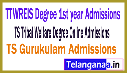 How to fill TTWREIS Degree 1st year admissions Online application form (TsTwreis)