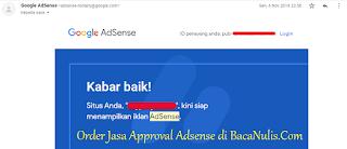 Jasa Approved Google Adsense Fresh Maupun Add Site Terpercaya dan Murah Untuk Blog Bule