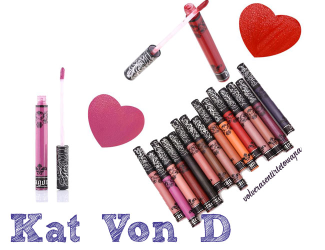 Labiales líquidos de Kat Von D en Aliexpress