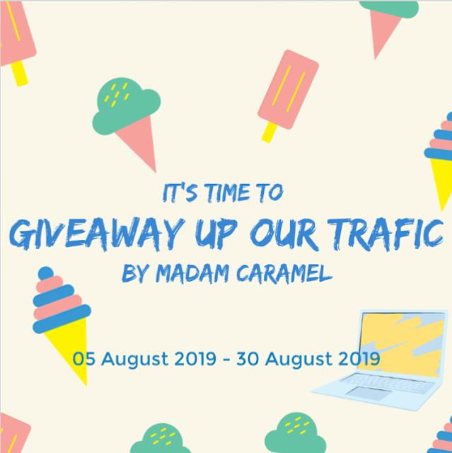Segmen Giveaway Up Traffic by Madam Caramel