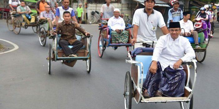 Becak Akan Kembali 'Dihidupkan', Anies Baswedan Janji Sediakan Rute Khusus