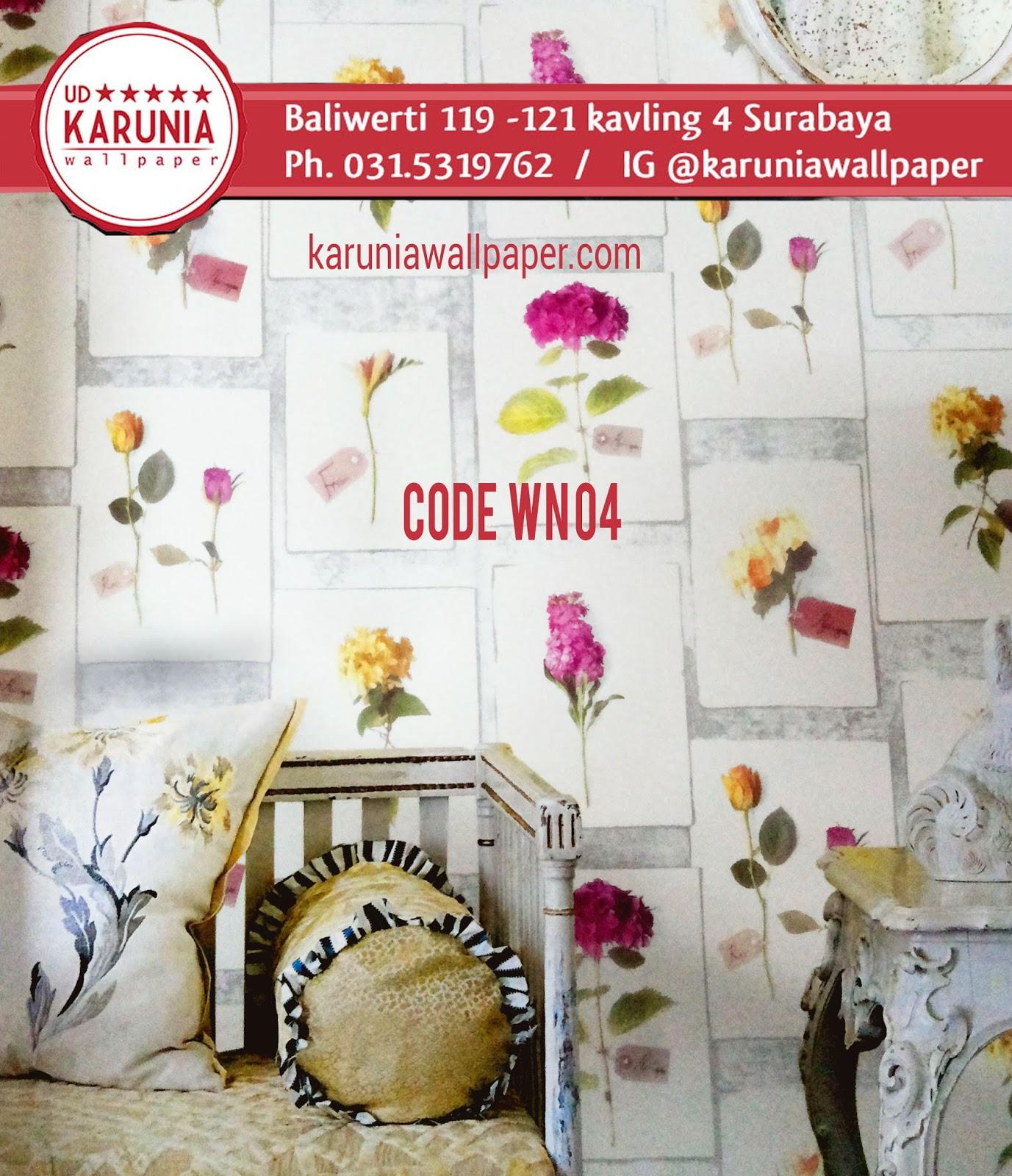 jual wallpaper motif kembang surabaya