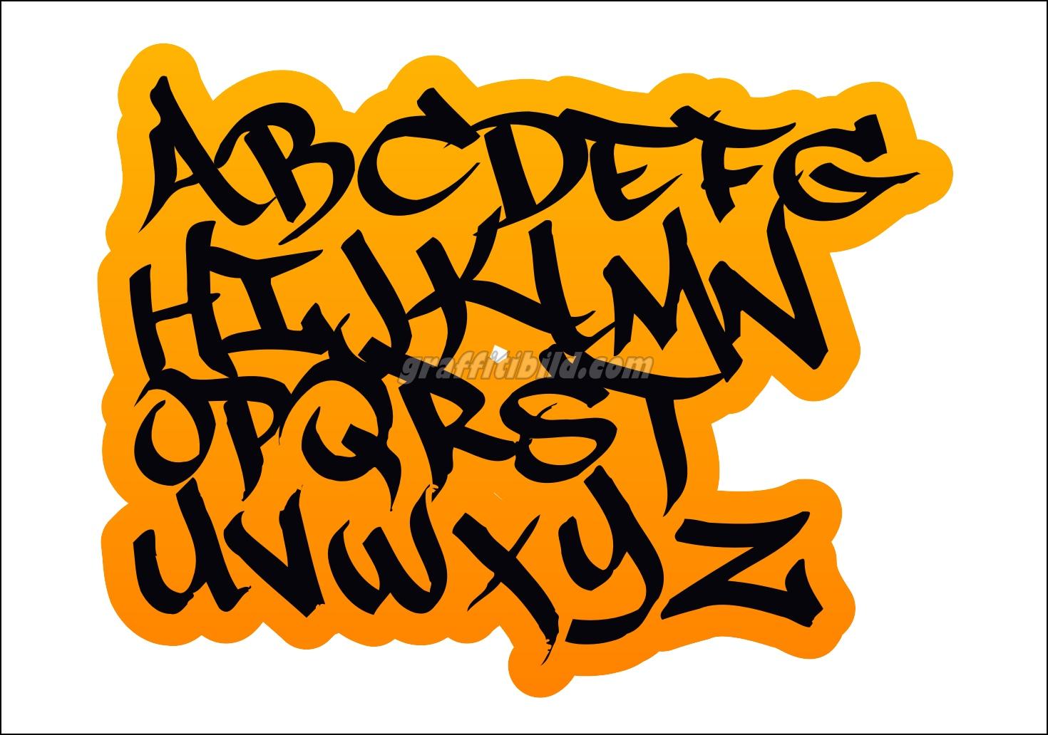 10 Coole Graffiti Abc Buchstaben Ausdrucken Kostenlos Graffiti