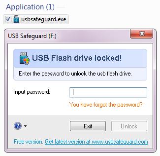 Lock USB Flash Drive with USB Safeguard