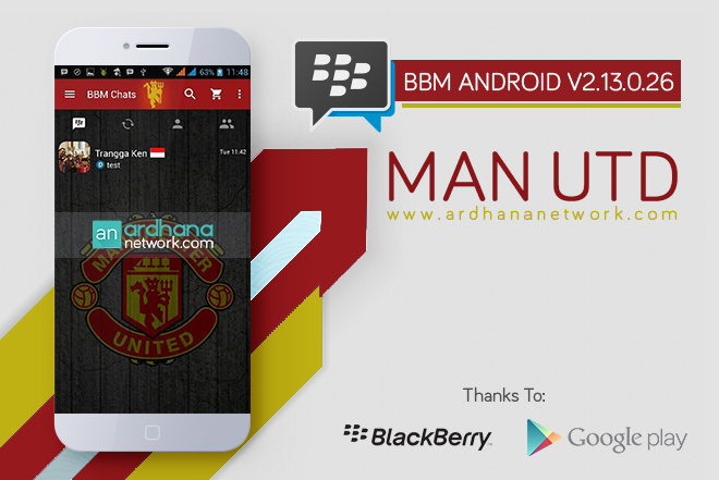 BBM Manchester United V2.13.0.26 - BBM MOD Tema Sepakbola