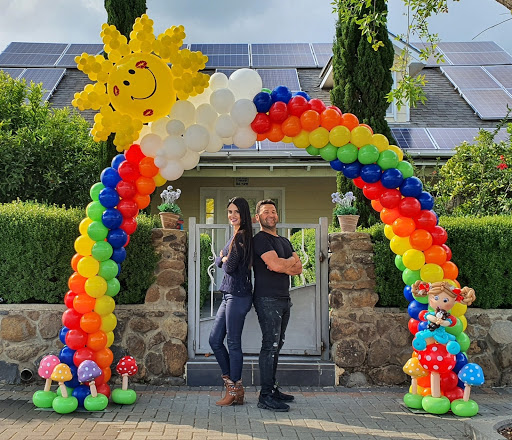 Vibrant Rainbow Entrance Arch by Avital & Nir Schechter of Balonir in Israel