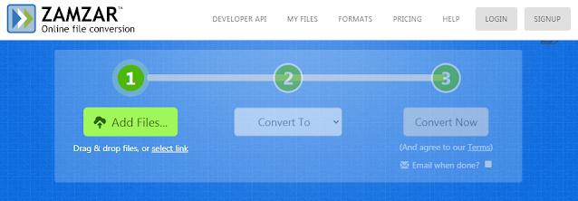 zamzar online converter