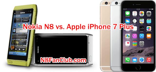 Nokia N8 vs. Apple iPhone 7 Plus