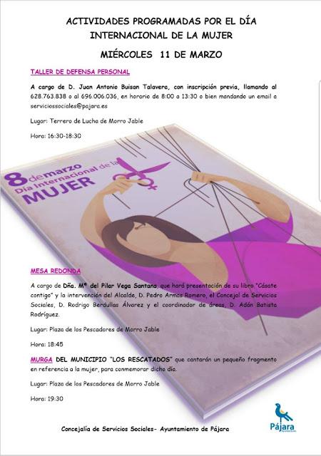 Cartel%2BActos%2BD%25C3%25ADa%2Bde%2Bla%2BMujer - Fuerteventura.- Pájara organiza una jornada para concienciar sobre la igualdad de género