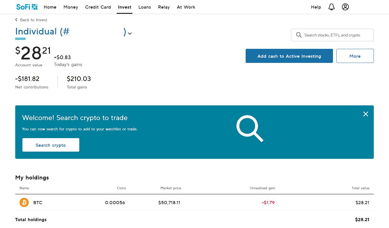 February Month End 2021 SoFi Crypto | Divi Monopoly