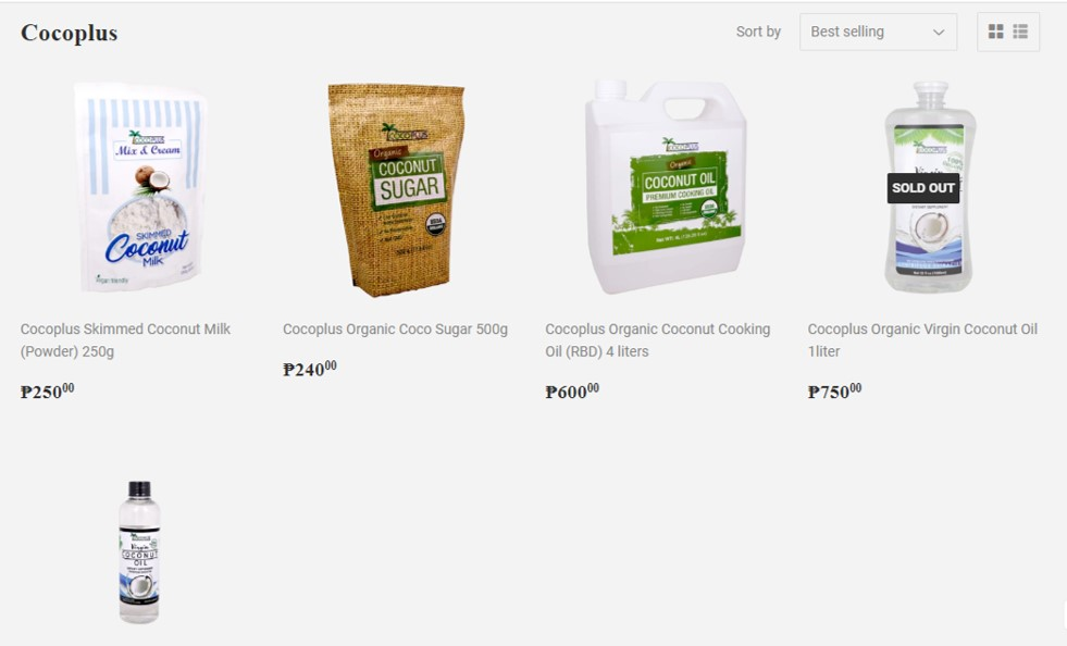 Cocoplus products available at Foodsource PH