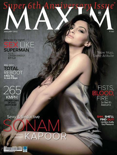 Sonam Kapoor's Seductive Look in Maxim Magazine